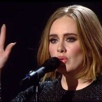 Adele's new bob on the X Factor final 2015
