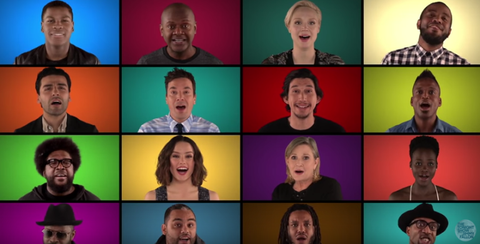Star Wars cast perform a capella version of theme songs on late night with jimmy fallon