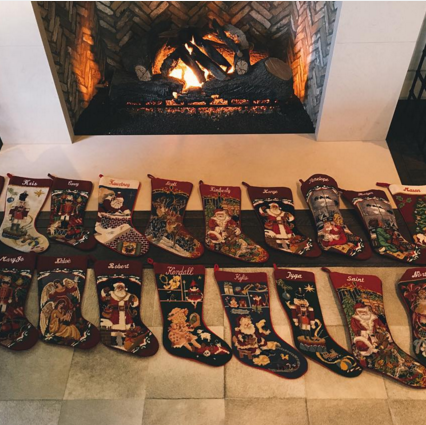 celebs celebrating christmas 2015