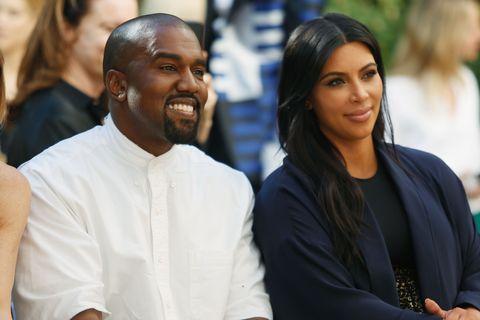 Kim Kardashian and Kanye West at the CFDA vogue fund fashion show