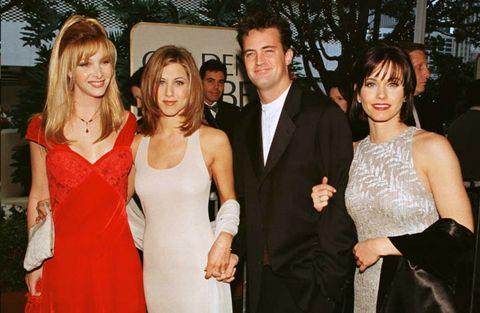 Friends cast from Golden Globes 1996