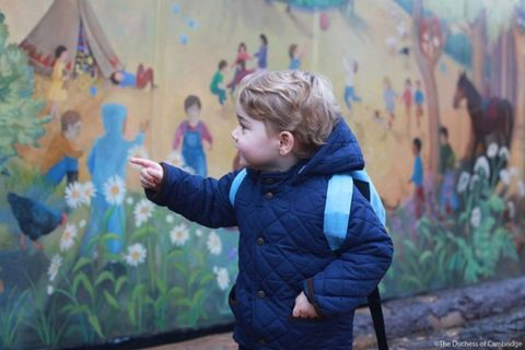 Prince George look SO cute on his first day at nursery
