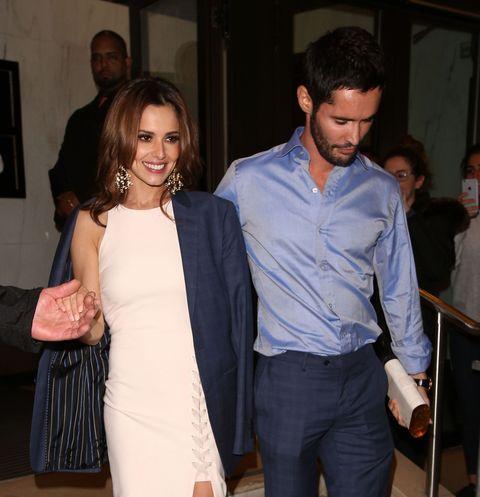 Cheryl Fernandez-Versini and Jean-Bernard Versini leaving a restaurant in London