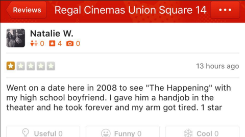 Natalie Walker used Yelp to review every date she's ever been on