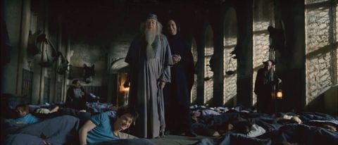 Watch Alan Rickman prank Daniel Radcliffe on the Harry Potter set