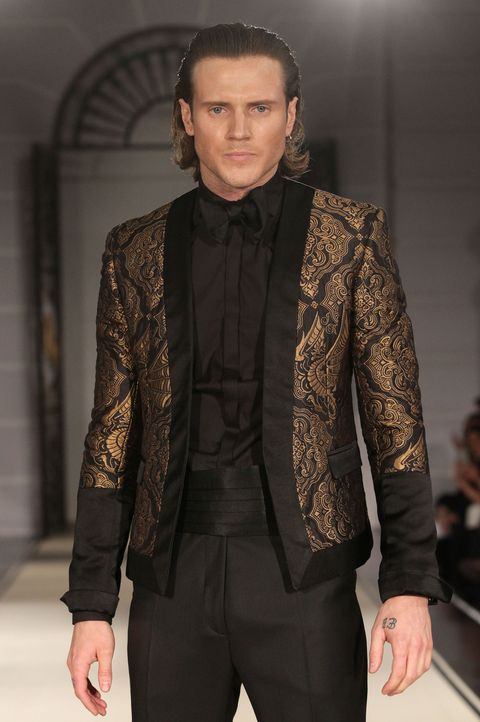 Dougie Poynter makes his modelling debut at LC:M