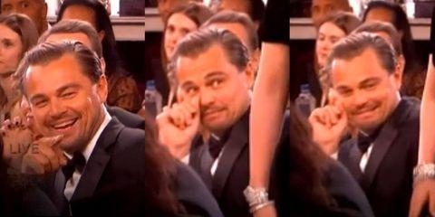 Leonardo DiCaprio's Golden Globe's reaction to Lady Gaga is priceless
