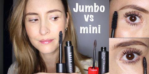 Jumbo vs mini mascara wands tested in the Beauty Lab