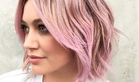 Hilary Duff Debuts Candy Floss Pink Hair And We Re Into It