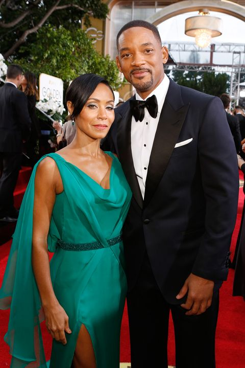 Will Smith and Jada Pinkett Smith attending the Golden Globes