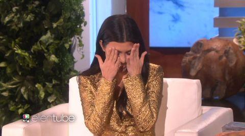 Kourtney Kardashian just got mega-awkward talking about those Justin Bieber dating rumours