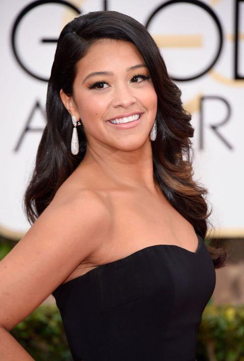 Gina Rodriguez at the 2015 Golden Globes