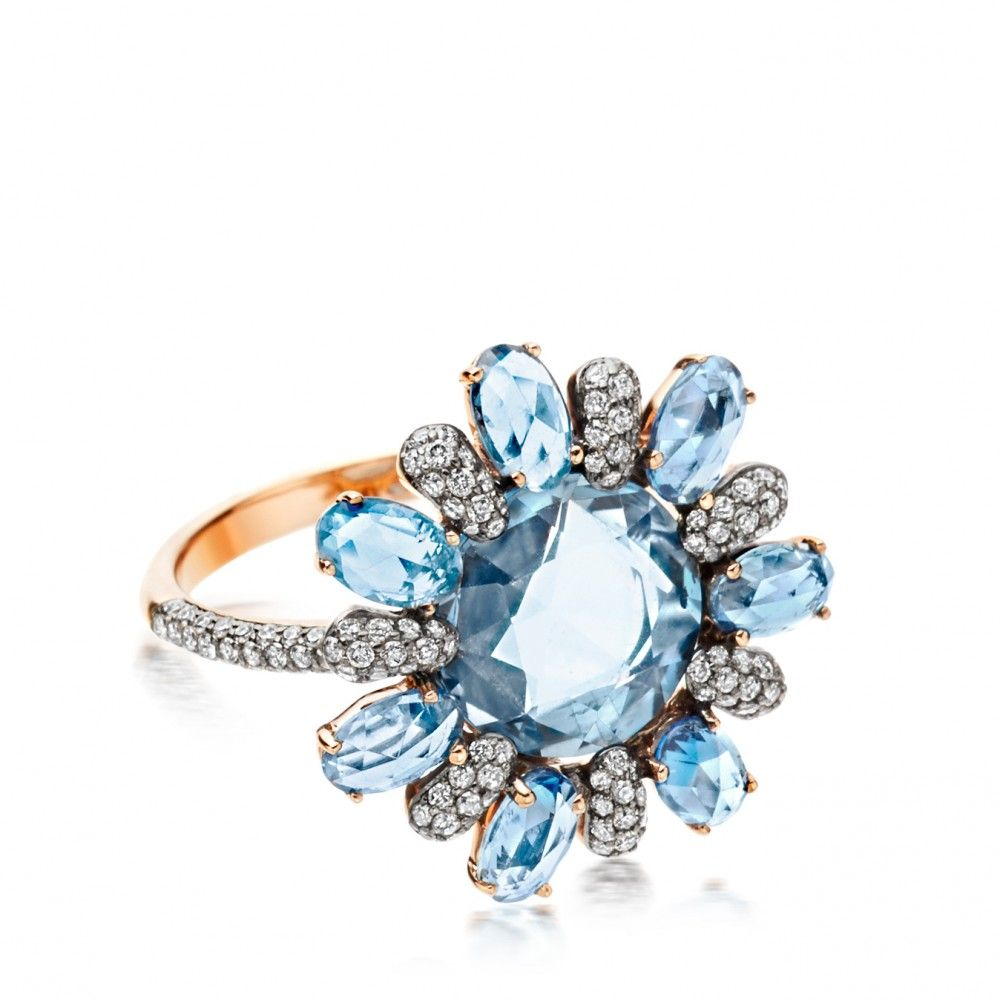 with gold jewelry nl engagement rose coloured stone blue colored side round halo rings cut rg aquamarine in floral ring