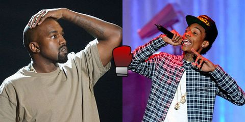 Kanye and Wiz Khalifa had a Twitter fight and it's everything
