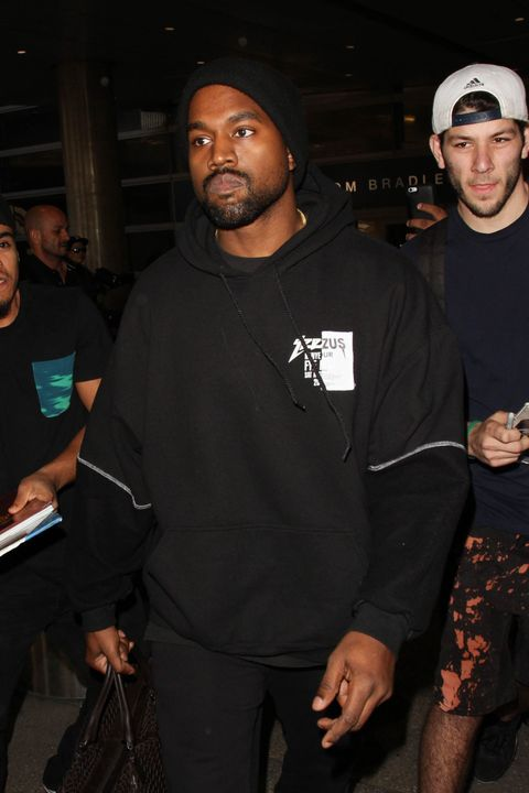 Kanye West at los angeles airport