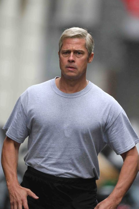 Brad Pitt Is Now A Silver Fox And We Like It
