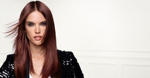 Alessandra Ambrosio unveils red hair for her new L'Oreal campaign