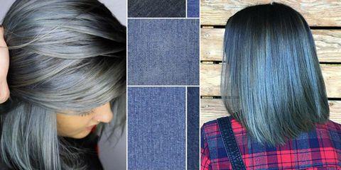 Denim for hair  trend