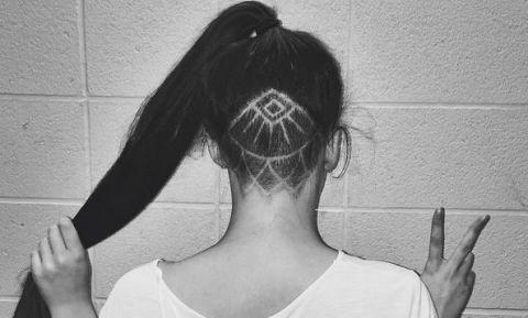 Hidden hair tattoos are trending