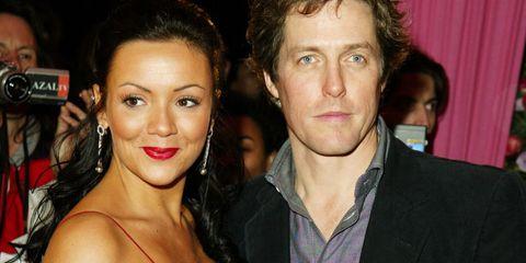Hugh Grant and Martine McCutcheon at the Love Actually Premiere