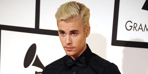 Justin Bieber at the Grammy Awards 2016