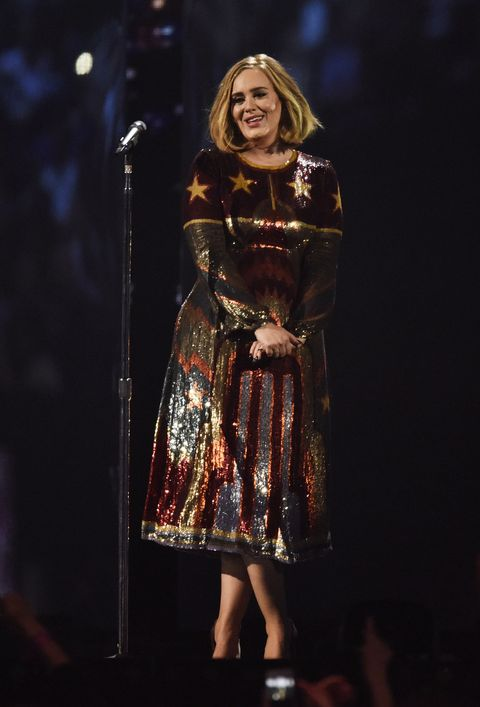 Microphone, Dress, Fashion, One-piece garment, Day dress, Singing, Stage, Singer, Song, Fashion design,