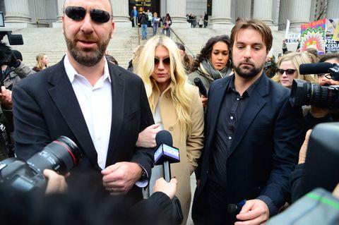Kesha leaving the court hearing