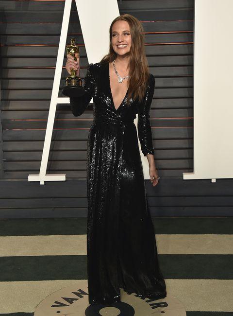 Oscars 2016 Vanity Fair after-party metallic dresses