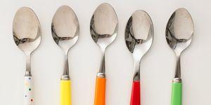 colourful teaspoons