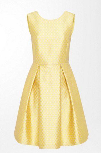 "<p>£149, <a href=""http://www.hallhuber.com/uk/collection/apparel/dresses/graphic-print-jacquard-dress-soft-yellow.html"" target=""_blank"">Hallhuber</a></p>"