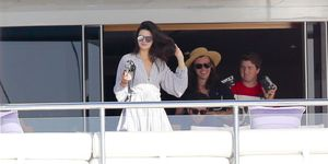 Harry Styles and Kendall Jenner on a yacht