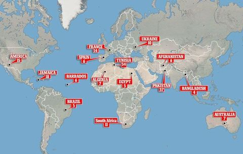 The most dangerous countries in the world for british backpackers gumiabroncs Images