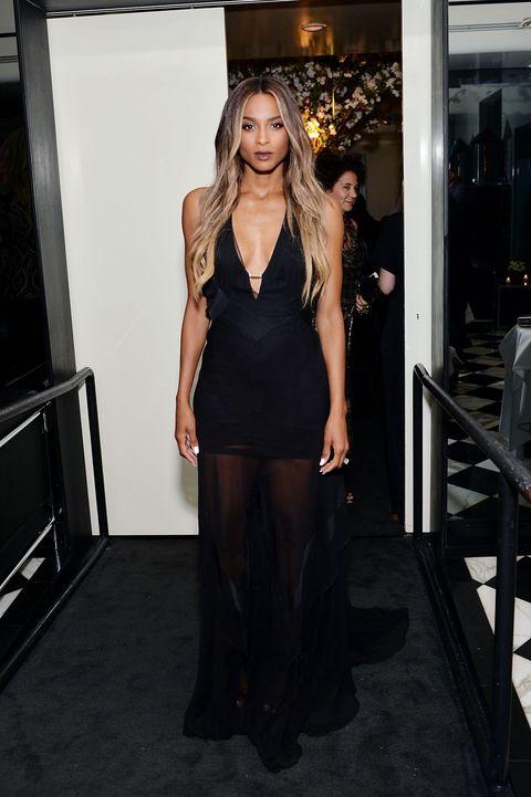 celeb fashion at the front row Los Angeles Fashion Awards 2016