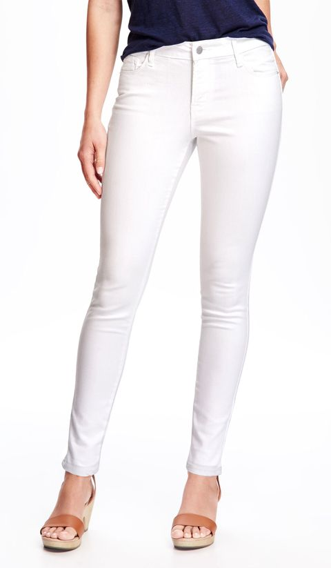 Old Navy stain resistant white jeans