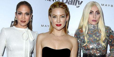 Jennifer Lopez, Kate Hudson and Lady Gaga at the LA Daily Front Row Fashion Awards