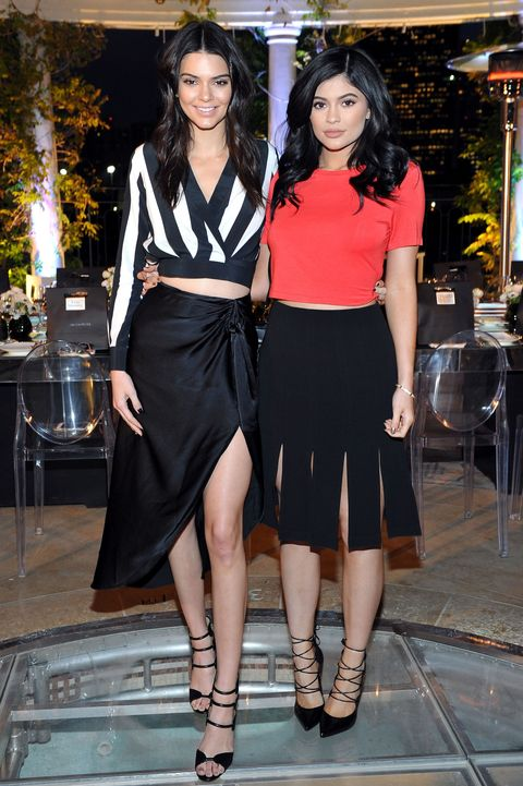 1ec0525da4a Kendall and Kylie Jenner wear their own clothing range