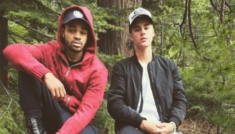 Justin Bieber on holiday in the forest