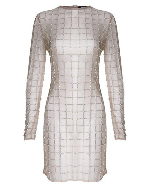 Product, Sleeve, Shoulder, Textile, Pattern, Style, Dress, Fashion, Neck, Grey,