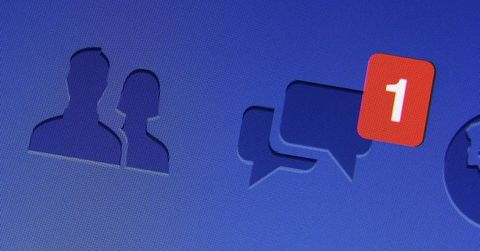 Facebook private message notification