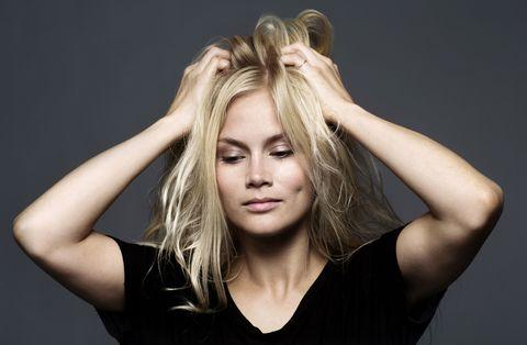 Hair, Head, Lip, Hairstyle, Skin, Shoulder, Eyelash, Joint, Elbow, Style,