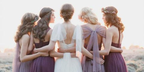 Bridesmaid dresses from the back