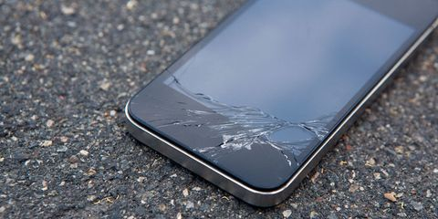 Cracked smashed iphone screen