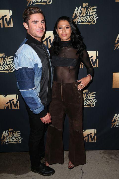Zac Efron and Sami Miro at the MTV movie awards