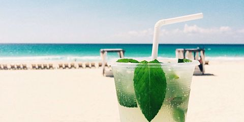 mojito cocktails on the beach