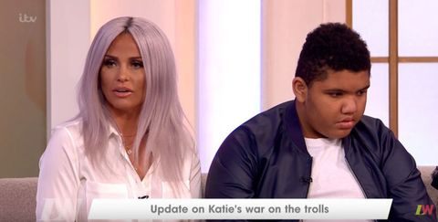 Twitter shows support for Katie Price's son Harvey after he reveals he calls bullies the C-word
