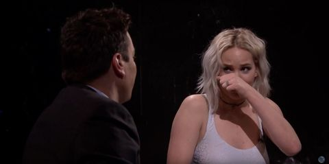 Jennifer Lawrence had a snot fail on TV and it makes us love her even more