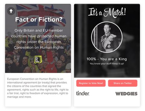 Tinders Gone Political With A New Swipe The Vote Campaign