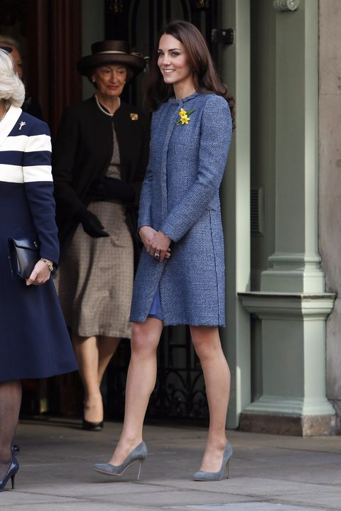 LONDON, UNITED KINGDOM - MARCH 01:  Catherine, Duchess Of Cambridge visits Fortnum and Mason Store on March 1, 2012 in London, England. (Photo by Neil Mockford/FilmMagic)