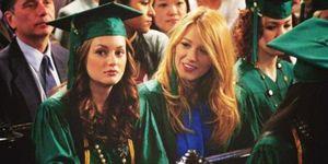 Blair and Serena from Gossip Girl at graduation
