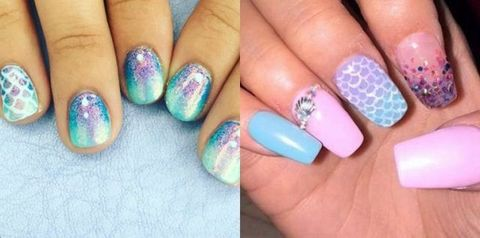 Mermaid nail art - Mermaid Nail-art Is Here, And It's Everything We Thought It Would Be